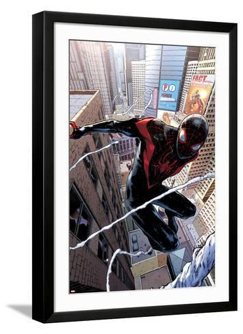 Spider-Man #1 Cover Featuring Ultimate Spider-Man Morales-Sara Pichelli-Framed Art Print