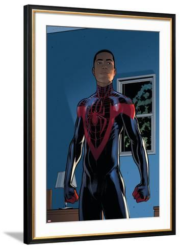 Ultimate Comics Spider-Man #28 Featuring Spider-Man, Miles Morales-David Marquez-Framed Art Print