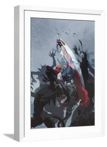 Thor: God of Thunder #3 Cover: Thor-Esad Ribic-Framed Art Print