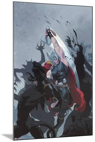 Thor: God of Thunder #3 Cover: Thor-Esad Ribic-Mounted Art Print