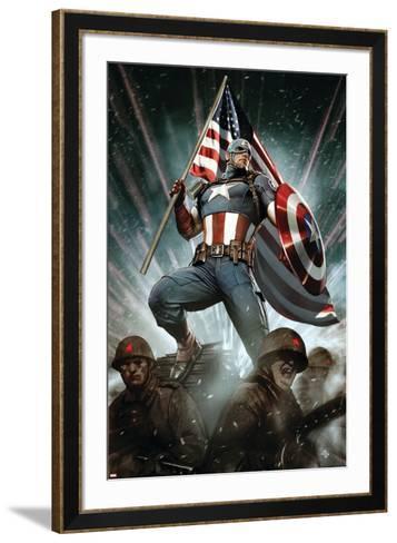 Captain America: Living Legend #1 Cover: Captain America-Adi Granov-Framed Art Print