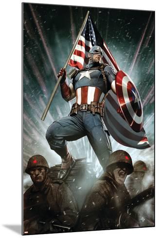Captain America: Living Legend #1 Cover: Captain America-Adi Granov-Mounted Art Print