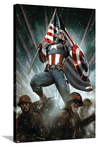 Captain America: Living Legend #1 Cover: Captain America-Adi Granov-Stretched Canvas Print