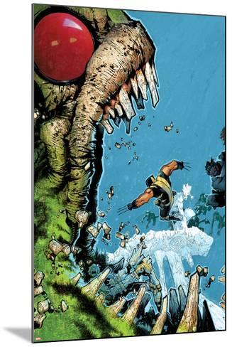 Wolverine & The X-Men No.2 Cover: Wolverine, Iceman, and Hulk Fighting-Chris Bachalo-Mounted Art Print