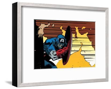 Avengers Assemble Artwork Featuring Captain America--Framed Art Print