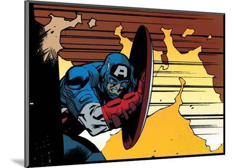 Avengers Assemble Artwork Featuring Captain America--Mounted Art Print