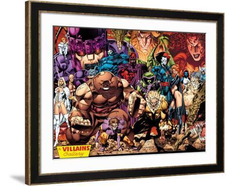 X-Men No.1: 20th Anniversary Edition: A Villains Gallery-Jim Lee-Framed Art Print