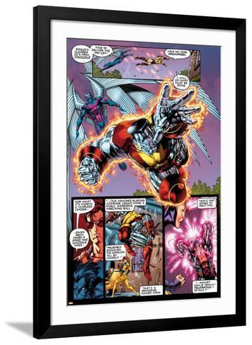X-Men No.1: 20th Anniversary Edition: Colossus and Archangel Flying-Jim Lee-Framed Art Print