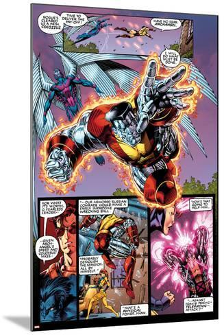 X-Men No.1: 20th Anniversary Edition: Colossus and Archangel Flying-Jim Lee-Mounted Art Print