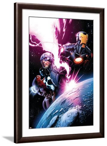 Avengers #7 Featuring Iron Man, Captain America, Spider-Man, Night Mask, Devoux, Tamara-Dustin Weaver-Framed Art Print