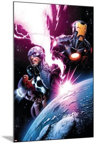 Avengers #7 Featuring Iron Man, Captain America, Spider-Man, Night Mask, Devoux, Tamara-Dustin Weaver-Mounted Art Print