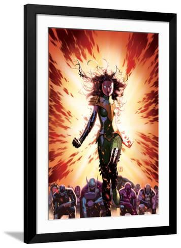 What If? Avx #3 Cover: Summers, Hope, Thor, Spider-Man, Wolverine, Cyclops, Phoenix, Storm-Jorge Molina-Framed Art Print