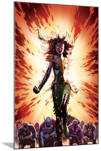 What If? Avx #3 Cover: Summers, Hope, Thor, Spider-Man, Wolverine, Cyclops, Phoenix, Storm-Jorge Molina-Mounted Art Print