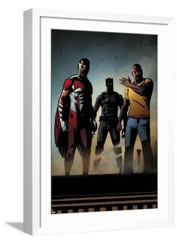 Black Panther: The Most Dangerous Man Alive No.526: Falcon, Black Panther, and Luke Cage-Shawn Martinbrough-Framed Art Print
