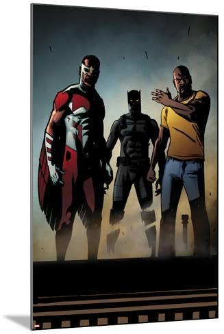 Black Panther: The Most Dangerous Man Alive No.526: Falcon, Black Panther, and Luke Cage-Shawn Martinbrough-Mounted Art Print