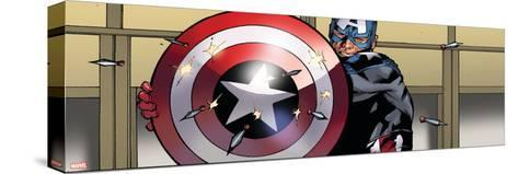Avengers Assemble Artwork Featuring Captain America--Stretched Canvas Print