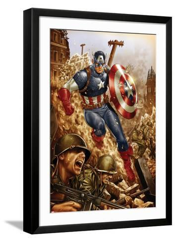 All-New, All-Different Avengers No.4 Cover and Featuring Captain America-Mark Brooks-Framed Art Print