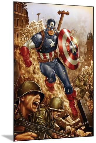 All-New, All-Different Avengers No.4 Cover and Featuring Captain America-Mark Brooks-Mounted Art Print