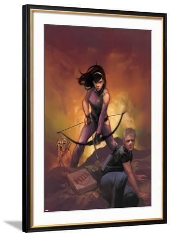 All-New Hawkeye No. 5 Cover Featuring Kate Bishop, Hawkeye-Phil Noto-Framed Art Print