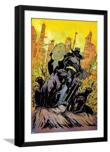 Power Man and Iron Fist No. 1 Cover Featuring Black Panter-Sanford Greene-Framed Art Print