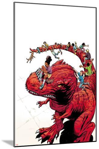 Moon Girl and Devil Dinosaur No. 7 Cover Art-June Brigman-Mounted Art Print
