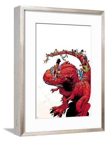 Moon Girl and Devil Dinosaur No. 7 Cover Art-June Brigman-Framed Art Print