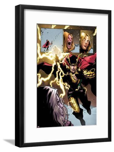Loki: Agent of Axis No. 9 Cover, Featuring: Thor, Loki-Lee Garbett-Framed Art Print