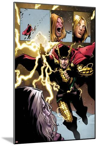 Loki: Agent of Axis No. 9 Cover, Featuring: Thor, Loki-Lee Garbett-Mounted Art Print