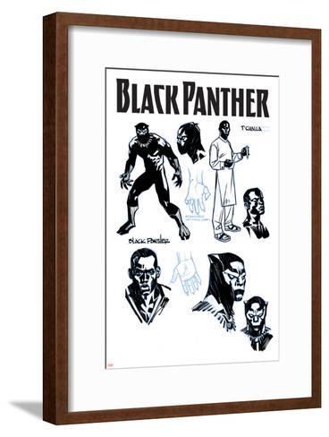 Black Panther No. 1 Cover Art-Brian Stelfreeze-Framed Art Print