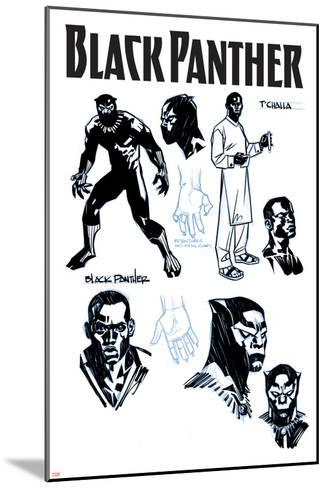 Black Panther No. 1 Cover Art-Brian Stelfreeze-Mounted Art Print