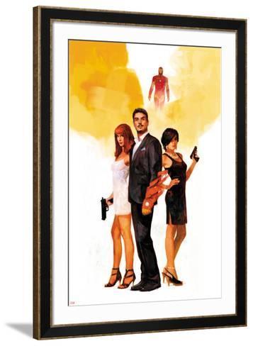 International Iron Man No. 1 Cover Featuring Mary Jane Watson, Stark, Tony, Iron Man, Amara Perera-Alex Maleev-Framed Art Print