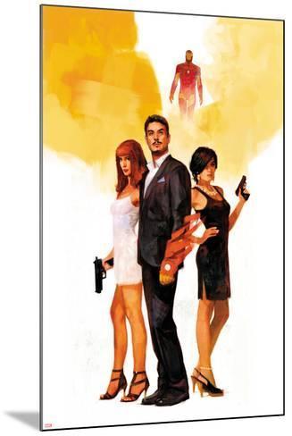 International Iron Man No. 1 Cover Featuring Mary Jane Watson, Stark, Tony, Iron Man, Amara Perera-Alex Maleev-Mounted Art Print