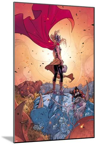 Thor No. 5 Cover, Featuring: Thor (Female), Frost Giants-Russell Dauterman-Mounted Art Print