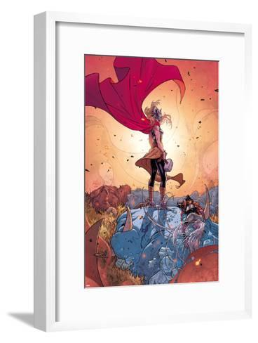 Thor No. 5 Cover, Featuring: Thor (Female), Frost Giants-Russell Dauterman-Framed Art Print