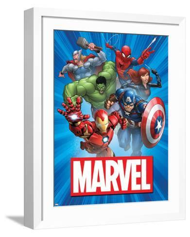 Marvel Group Image--Framed Art Print