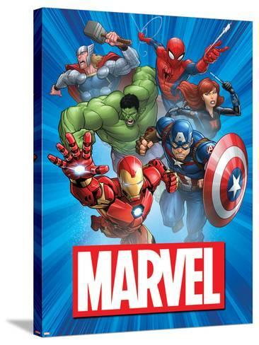 Marvel Group Image--Stretched Canvas Print