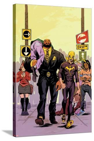 Power Man and Iron Fist No. 2 Cover Featuring Power Man, Iron Fist-Sanford Greene-Stretched Canvas Print