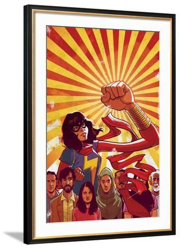 Ms. Marvel No. 8 Cover Art Featuring: Ms. Marvel (Kamala Khan)-Cameron Stewart-Framed Art Print