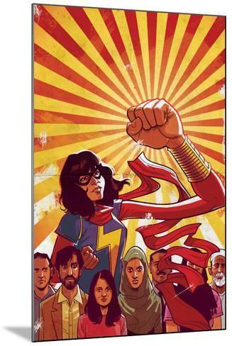 Ms. Marvel No. 8 Cover Art Featuring: Ms. Marvel (Kamala Khan)-Cameron Stewart-Mounted Art Print