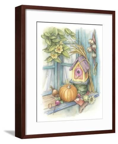 Harvest Birdhouse-Kim Jacobs-Framed Art Print
