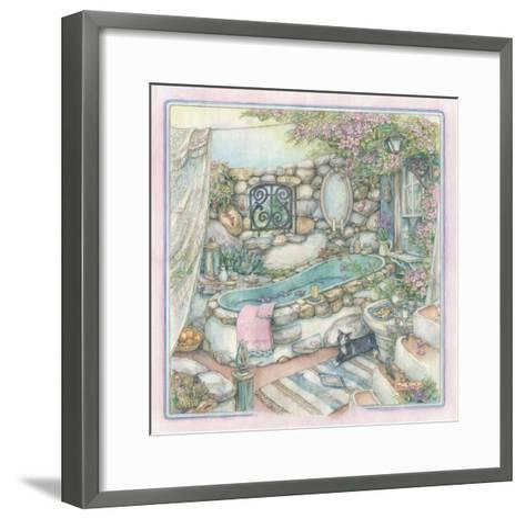 Bathing Cobblestone Way Style-Kim Jacobs-Framed Art Print