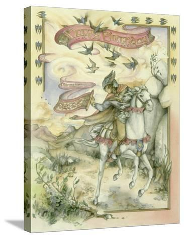Birthday Messenger-Kim Jacobs-Stretched Canvas Print