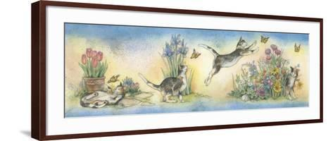 Cat and Butterfly-Kim Jacobs-Framed Art Print