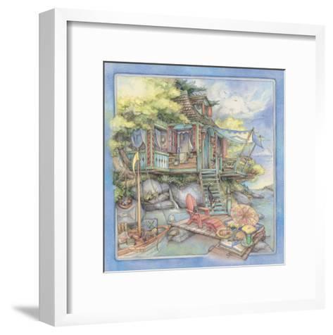 Shore House2-Kim Jacobs-Framed Art Print