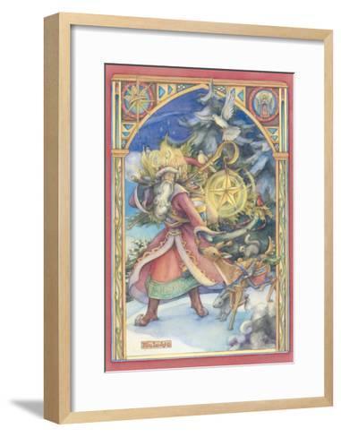 Father Christmas Card-Kim Jacobs-Framed Art Print
