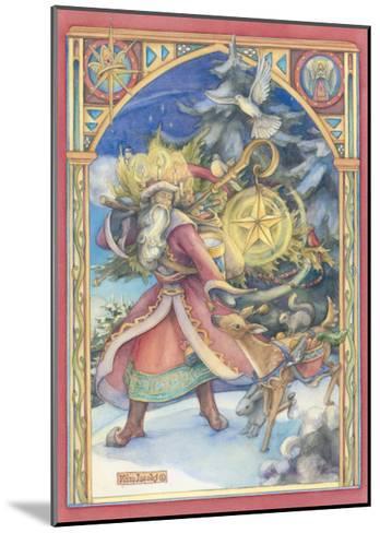 Father Christmas Card-Kim Jacobs-Mounted Giclee Print