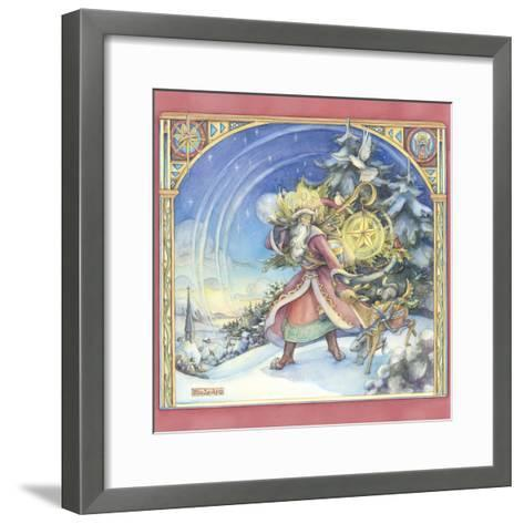 Father Christmas-Kim Jacobs-Framed Art Print