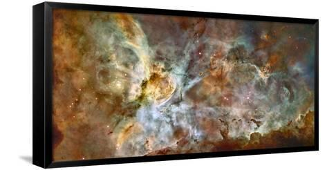 Star Birth and Star Death Create Cosmic Havoc in a Panorama of the Carina Nebula--Framed Canvas Print