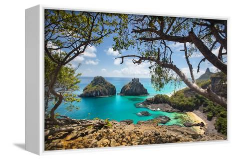 Baia Dos Porcos Beach and the Two Brothers Rock Formations-Alex Saberi-Framed Canvas Print