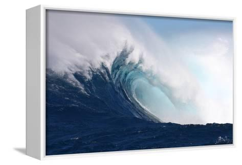 Wave, Side View of a Breaking Barrel-Patrick McFeeley-Framed Canvas Print